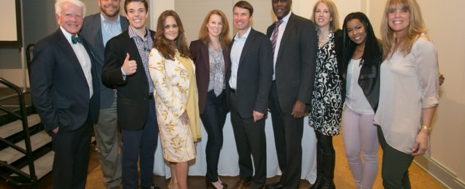 The Enlightenment Luncheon Series was held at the Atlanta Botanical Gardens with an expert panel on connecting kids to nature. Photo L-R Steve Nygren, Mario Cambardella, John R.Seydel, Lisa Rayner Catherall, Stephanie Blank, Stacy Funderburke, Dr. Stephen Lockhart, Sarah Milligan-Toffler, Gabriella Logan, Laura Turner Seydel